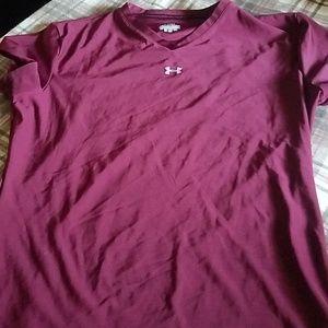 Burgandy UA shirt